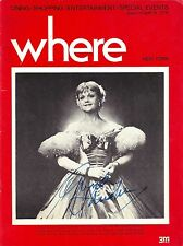 "Angela Lansbury (Signed) ""KING AND I"" Rodgers & Hammerstein '78 ""WHERE"" Magazine"