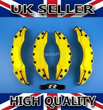 FRONT AND REAR YELLOW SPORT BRAKE CALIPER COVERS SET KIT ABS