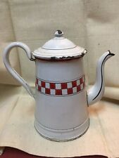 ANCIENNE CAFETIERE EMAILLEE année 1920 n°4