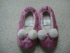 Mini Boden girl's bunny slippers size 32 UK 13 - pink