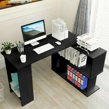 Modern L Shaped Corner Computer Home Office Desk Pc Laptop Table Workstation