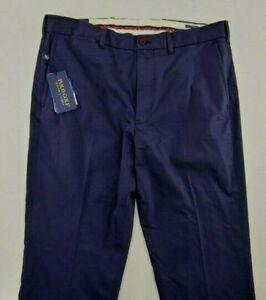 Polo Golf Ralph Lauren Pants Men's 34x30Blue Tailored Fit Flat FrontNWT $98