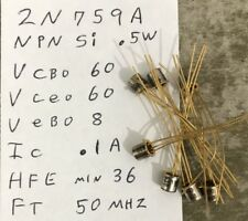 Over 300 Nsc 2N759A Ccxp Npn Silicon Transistors To-18 Gold Plated Long leads
