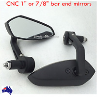 Black Motorcycle Bar End Rear View Mirrors KAWASAKI NINJA 250 300R ZX6R VULCAN