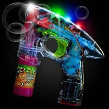 Party Favors B/O Flashing LED Bubble Gun with Lights Plus Sound Affects