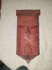 Antique Griswold Old Paint Cast Iron No. 3 Mail Box with Peep Hole Cover 1900's