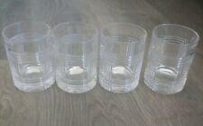 "Ralph Lauren Glen Plaid Lowball Glasses (Set Of 4) 4 1/8"""