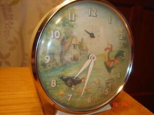 Vintage Chicken pecking Smiths Alarm clock 1950/60s very rare