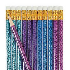 MERMAID SHIMMER PENCILS PARTY SUPPLIES FAVOURS SCHOOL REWARDS (PACK OF 12)