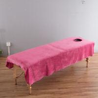 Samt Bettlaken Betttuch Massagetuch mit Gesichtsloch für SPA Massage