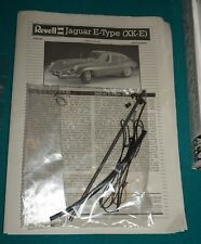 Jaguar E-Type XK-E Coupe Revell 1/8 Instructions Plumbing & Wiring.