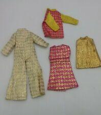 Lot 4 Barbie/Clone Metallic Clothes 60s-70s Shillman, Hong Kong