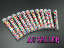 Bulk 8000+pcs 2-3mm Seed Beads Colourful Jewellery Craft Making 12 Tube AU STOCK