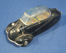"Vintage 1950's Bandai Japan Messerschmitt Bubble Car Tin Friction Toy 8"" Black"