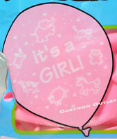 "24 X It's a Girl  BALLOON Pink 12"" FAVORS BIRTHDAY DECORATION BALLOONS globos"
