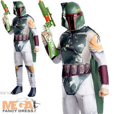 Boba Fett Mens Fancy Dress Star Wars Film Movie Villain Adult Costume Outfit