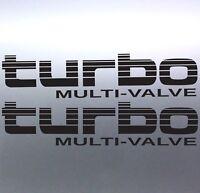 2x Turbo Multi-Valve Stickers Toyota Landcruiser 4WD 4x4 Sticker Australian two