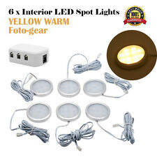 6x 12V Interior LED Spot Light Warm Light for VW T4 T5 Caravan Camper Van Light