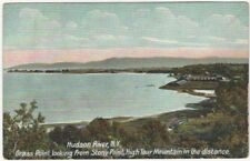Hudson River, Grass Point from Stony Point, High Tour Mountain New York Postcard