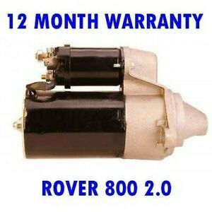 ROVER 800 2.0 1986 - 1999 NEW STARTER MOTOR 12 MONTH WARRANTY