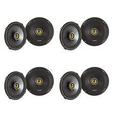 Kicker CS Series CSC65 6.5 Inch Car Audio Speaker with Woofers, Yellow (8 Pack)