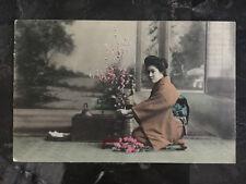 1911 Tsingtau China RPPC Real Picture Postcard Cover to Germany Woman Server