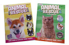 NEW Set of 2 Rescue Animals Dogs Cats Kids Coloring Book  Activity Books Set