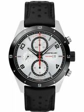 Montblanc Timewalker Chronograph Stainless steel watch Black Leather Strap116100