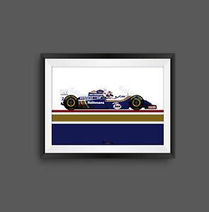 Nigel Mansell Williams FW16 Livery F1 Print - Scuderia GP