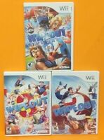Nintendo Wii Wii U Games LOT Wipeout The Game 1 2 3 Trilogy Bundle 1-4 players