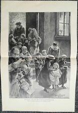 Wohltätigkeitsbescherung Weihnachten Bescherung HOLZSTICH von 1893