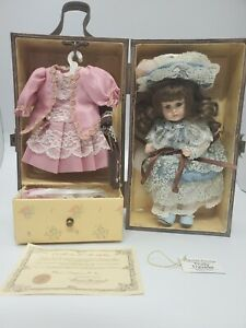 Trudy Traveler Doll With Wood Wardrobe Travel Case Vintage Handcrafted