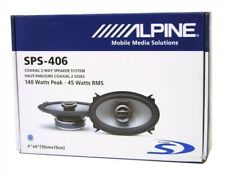 "ALPINE SPS-406 TYPE S 4""X 6"" CAR SPEAKER AUDIO SPEAKER 2-WAY COAXIAL VERY RARE"
