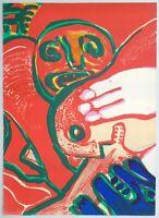 "Bengt LINDSTROM - ""Omaggio a Fellini"", 1976 - Litografia, 50 x 70 cm"