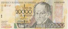 VENEZUELA : 20000 BOLIVARES 2001 - P.86a - PEU COURANT