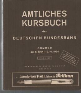 AMTLICHES KURSBUCH DER DEUTSCHEN BUNDESBAHN - SOMMER 23.5. - 2.10. 1954