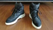JULIUS 7 2016AW Coated Leather Chunky Sole Sneakers Black Size 3 US 11 EU 44