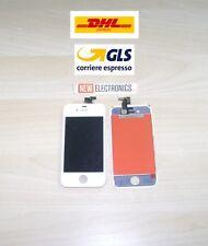 LCD DISPLAY TOUCH SCREEN RETINA + FRAME PER APPLE IPHONE 4S BIANCO SCHERMO VETRO