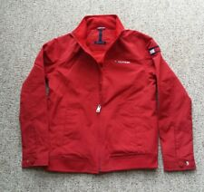 4362dc188ff Vintage Tommy Hilfiger Flag Spellout Jacket Womans Small Petite Hooded Red  Coat