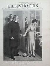 L' ILLUSTRATION 1908 N 3433 A LA COMEDIE FRANCAISE: M. HUGUENET et Mme BERTET.