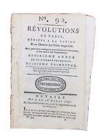 Rare Journal Révolution Française 1791 Robespierre Comédie Française Brie Alsace