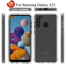 For Samsung Galaxy A21 Shockproof Heavy Duty Crystal Clear Armor Hard Case Cover