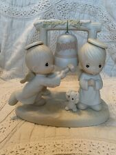 """Precious Moments Angels Ringing Bell- """"Ring Those Christmas Bells"""""""