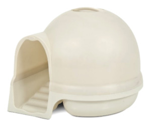 Petmate Booda Dome Cleanstep Cat Litter Box Hooded Top Covered Privacy, White