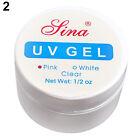 Pro Clear Pink White Nail Art Tips UV Gel Primer Base Top Coat Builder Manicure