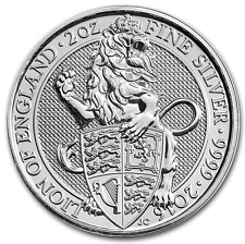 LION 2016 QUEENS BEASTS 2 OZ ARGENT 999 GRANDE BRETAGNE UK £5 SILVER 2 OZ OUNCES