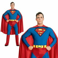 Superman Super Hero Adult Stag Halloween Party Outfit Mens Fancy Dress Costume