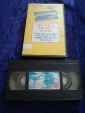 VHS.BEING HUMAN.BLOCKBUSTER VIDEO EX RENTAL YELLOW STORE SLEEVE.VIDEO SHOP.