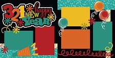 "3 2 1 Happy New Year Scrapbook Layout Kit (Two 12""x12"" pages for a full layout)"