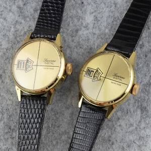 Lot of 2 NOS Lucerne Jumping Hour Watches - 1970s - Swiss Made - Need servicing